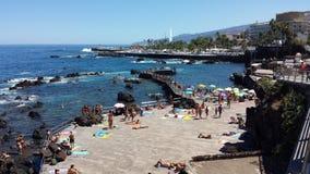 Stranden van Puerto de la Cruz Royalty-vrije Stock Afbeeldingen