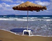 strandett slags solskydd Arkivbild