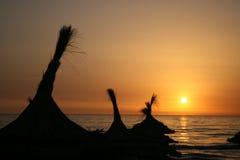 strandett slags solskyddsoluppgång Royaltyfri Fotografi