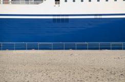 Strandf�hre. Detail of a big ship Stock Image