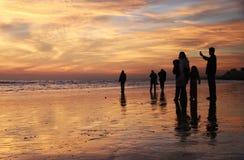 strandfamilj Royaltyfria Foton