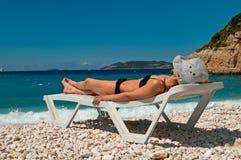 strandferie Fotografering för Bildbyråer