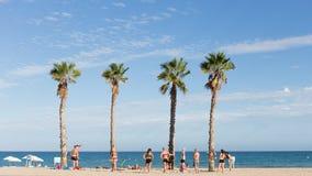 Strandferie i Alicante, Spanien Arkivbilder