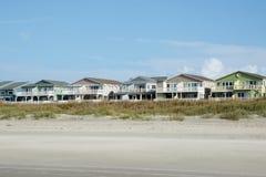 Strandferienhäuser Stockfoto