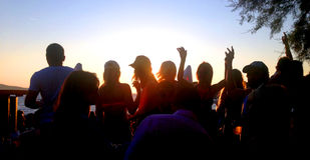Strandfest - HVAR- Kroatien lizenzfreie stockfotos