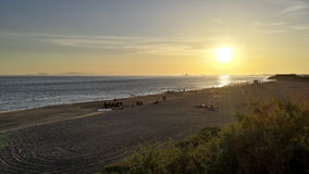 Strandfest-Nacht am Punkt Mugu, CA lizenzfreie stockfotos
