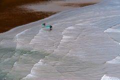 strandfiskare två Royaltyfria Bilder