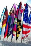 strandflaggor Arkivbild