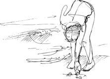 strandflicka Vektor Illustrationer