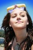 strandflicka Royaltyfria Bilder