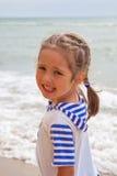 strandflicka little Royaltyfri Bild