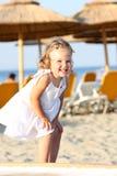 strandflicka little Royaltyfria Foton