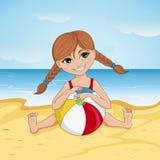 strandflicka little Royaltyfri Foto
