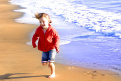 strandflickabarn Fotografering för Bildbyråer