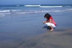 strandflickabarn Royaltyfria Bilder