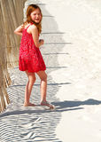 strandflickabarn Royaltyfri Fotografi