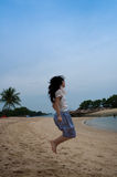 strandflickahopp Royaltyfria Foton