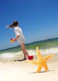 strandflickasjöstjärna Royaltyfri Bild