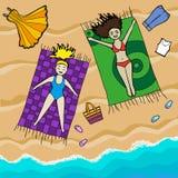 strandflickor Royaltyfri Foto