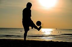 Strandfotboll Royaltyfri Bild