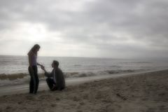 strandförälskelse Arkivfoton
