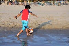 Strandfußball lizenzfreies stockfoto