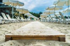 Strandgångbana Royaltyfri Bild