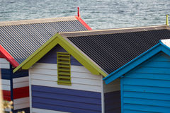 Strandgarderoben Stockbilder
