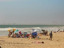 Strandgrupp Arkivbild