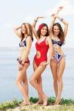 strandgyckel som har älskvärda kvinnor Royaltyfri Foto