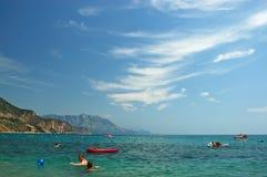 strandgyckel som har folk Royaltyfri Fotografi
