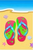 strandhäftklammermatare stock illustrationer