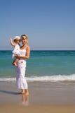 strandhälsningar royaltyfri bild