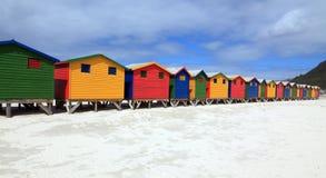 Strandhäuser in Muizenberg Royalty Free Stock Images