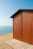 Strandhütte stockbild