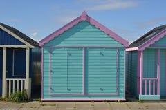 Strandhütte bei Skegness lizenzfreie stockfotos