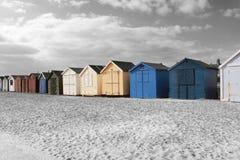 Strandhütten Stockbild