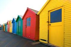 Strandhütten lizenzfreie stockbilder