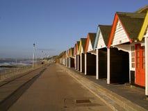 Strandhütten Stockfoto