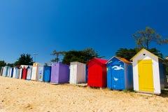 Strandhütten Oleron Insel stockbilder