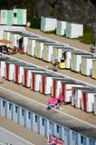Strandhütten, Tolcarne, Newquay Lizenzfreie Stockfotos
