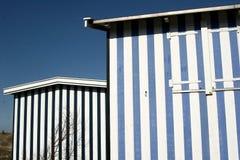 Strandhaus im Nordseeland Stockbild