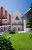 Strandhaus in Portugal stockfotografie
