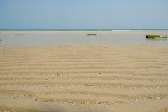 Strandhav och himmel Arkivfoto