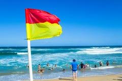 Strandhavlivräddare Flags People Royaltyfri Bild