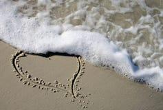 strandhjärta arkivfoton