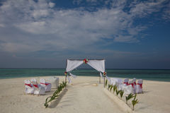 Strandhochzeit in Malediven Stockbild