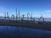 Strandhokitikavatten Nya Zeeland Arkivfoto