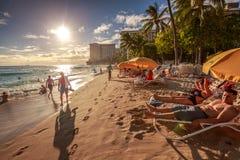 strandhonolulu waikiki Royaltyfria Bilder