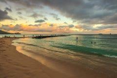 strandhonolulu waikiki Arkivfoton